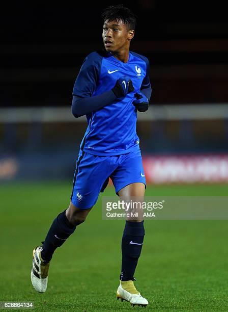 Boubacar Kamara of France U18 during the U18 International Friendly match between England and France at London Road Stadium on November 14 2016 in...
