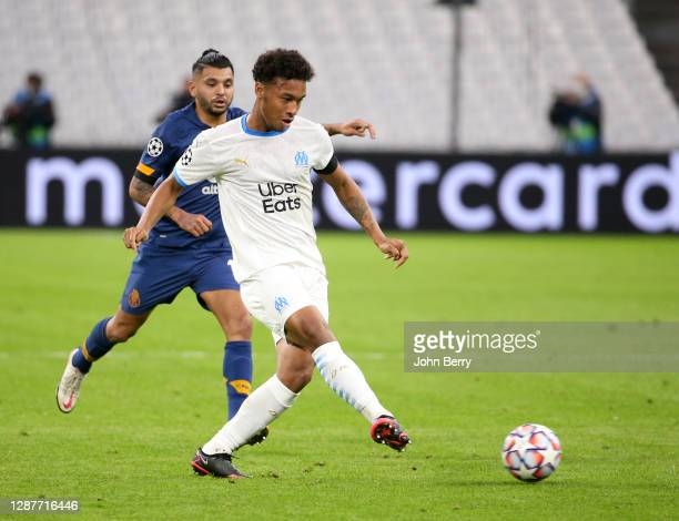 Boubacar Kamara of Marseille during the UEFA Champions League Group C stage match between Olympique de Marseille and FC Porto at Stade Velodrome on...