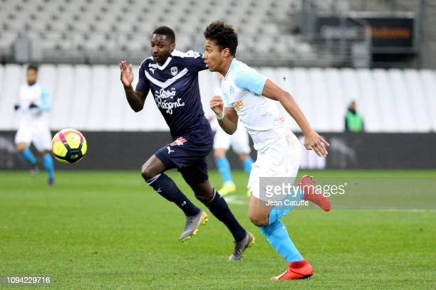 Boubacar Kamara of Marseille, Younousse Sankhare of Bordeaux during the French Ligue 1 match between Olympique de Marseille and Girondins de Bordeaux...