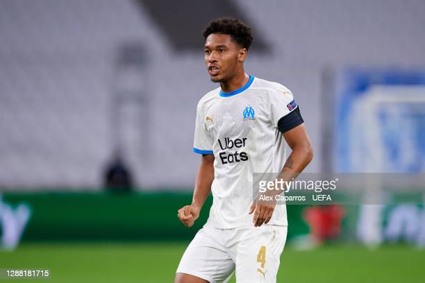 Boubacar Kamara of Olympique de Marseille looks on during the UEFA Champions League Group C stage match between Olympique de Marseille and FC Porto...