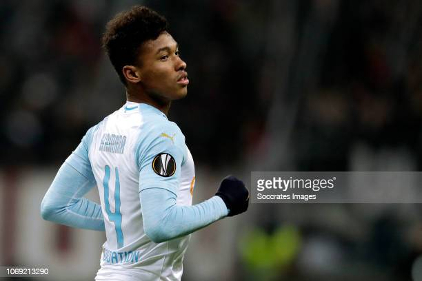 Boubacar Kamara of Olympique Marseille during the UEFA Europa League match between Eintracht Frankfurt v Olympique Marseille at the Commerzbank Arena...