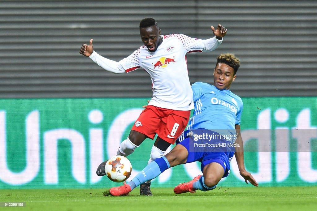 RB Leipzig v Olympique Marseille - UEFA Europa League Quarter Final Leg One : News Photo
