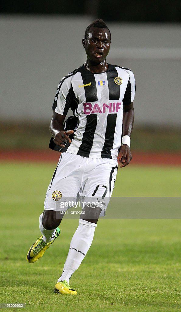 Boubacar of CD National during a pre-season friendly match between CD National and Sunderland at the Estadio Municipal Albufeira on July 30, 2014 in Albufeira, Portugal.