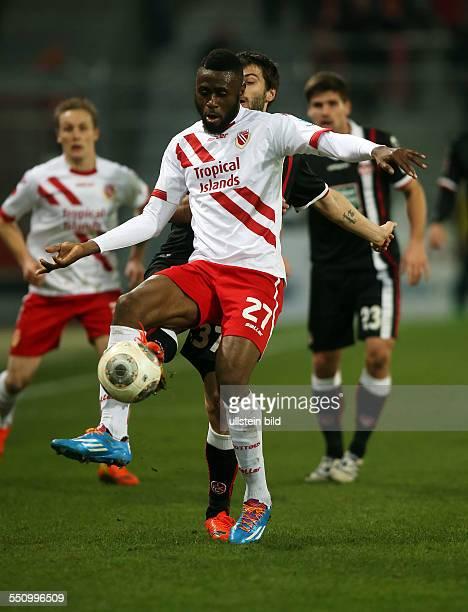 Boubacar Sanogo, Einzelbild, Aktion , FC Energie Cottbus, zweite Bundesliga, Sport, Fußball Fussball, Stadion der Freundschaft Cottbus, Herren, DFL,...