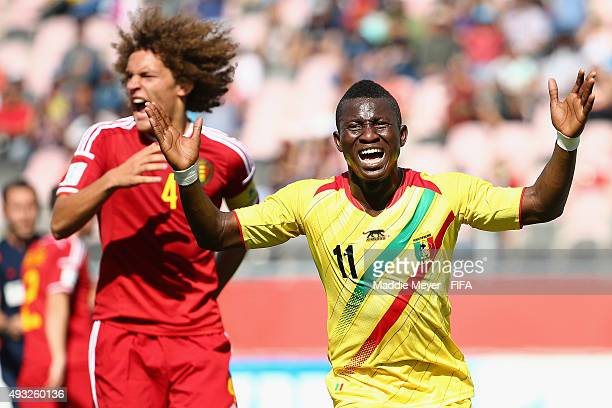 Boubacar Traore of Mali reacts after missing a shot on goal during the first half of the FIFA U-17 Men's World Cup Chile 2015 group D match between...
