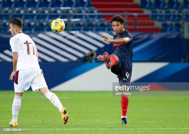 Boubakar Kamara of France during the UEFA Euro U21 qualifier match between France U21 and Switzerland U21 at Stade Michel d'Ornano on November 16,...