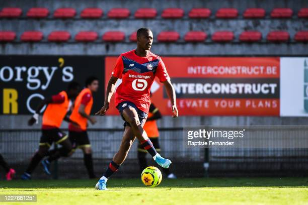 Boubakary SOUMARE of Lille during the Friendly match between Lyon and Mouscron on July 18 2020 in Mouscron Belgium
