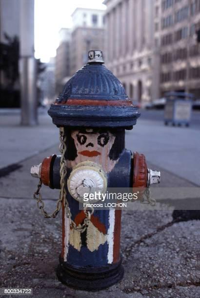 Bouche d'incendie peinte en novembre 1980 à Washington aux ÉtatsUnis