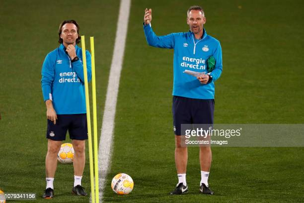 Boudewijn Zenden of PSV Andre Ooijer of PSV during the Training Camp PSV in Qatar on January 7 2019 in Doha Qatar