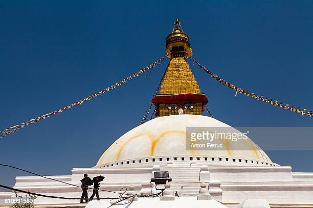 boudhanath buddhist stupa, kathmandu, nepal - anton petrus stock pictures, royalty-free photos & images