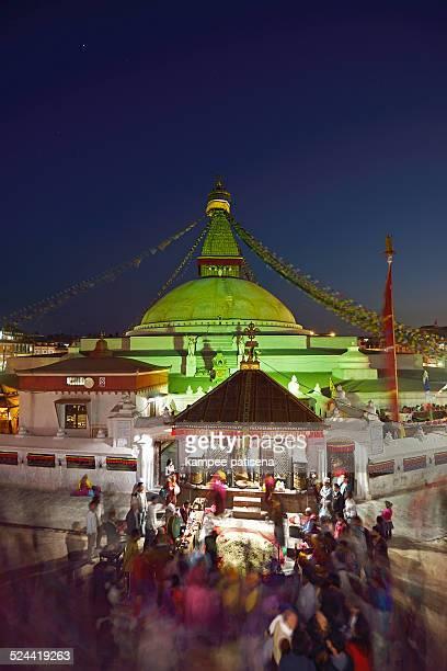 boudhanath, kathmandu valley, nepal - 仏陀の目 ストックフォトと画像