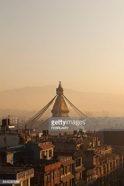 boudhanath stupa, kathmandu, nepal - stupa stock pictures, royalty-free photos & images