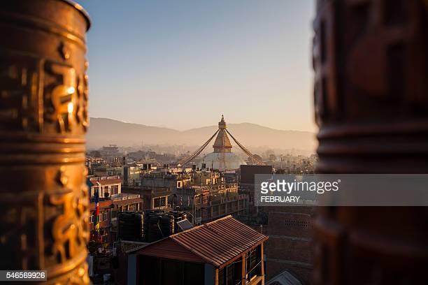 boudhanath stupa, kathmandu, nepal - kathmandu stock pictures, royalty-free photos & images