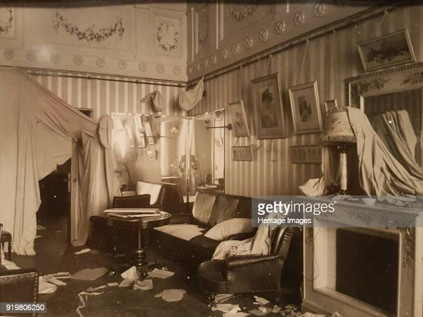 Boudoir of Empress Alexandra Fyodorovna after the Storming the Winter Palace 1917 Found in the collection of State Hermitage St Petersburg