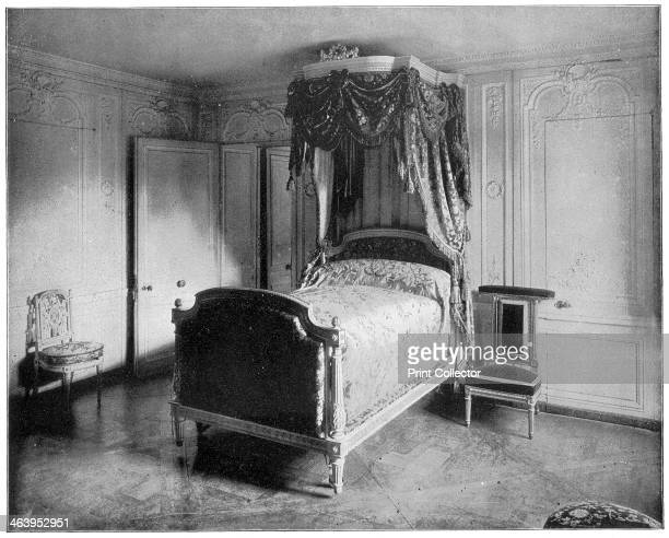 Boudoir of Marie Antoinette Trianon Versailles Bedroom of the French queen Marie Antoinette Illustration from Portfolio of Photographs of Famous...