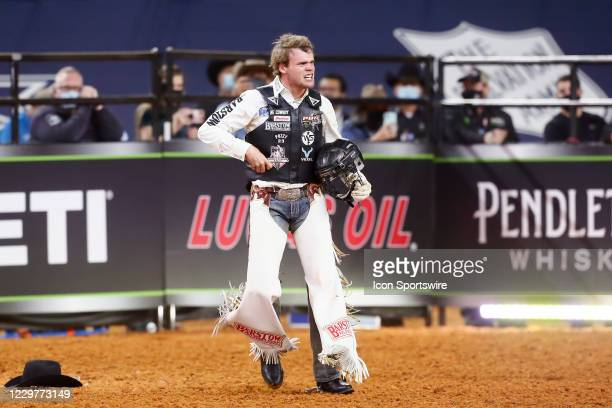Boudreaux Campbell celebrates during the PBR World Finals, on November 15th at the AT&T Stadium, Arlington, TX.