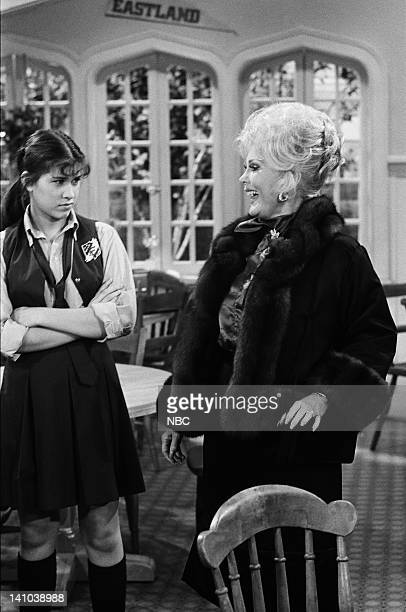 LIFE 'Bought and Sold' Episode 13 Pictured Nancy McKeon as Joanne 'Jo' Polniaczek Bonner and Zsa Zsa Gabor as Countess Calvet Photo by Paul...