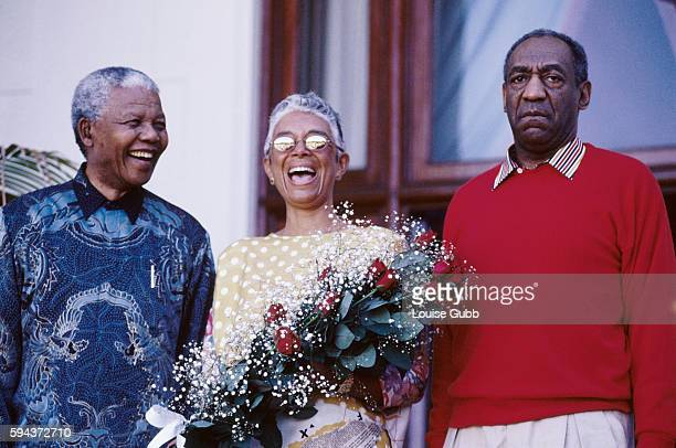 I bought the flowers he gave 'em to her quips Bill Cosby after President Mandela gave Camille Cosby a bouquet of birthday flowers Former President of...