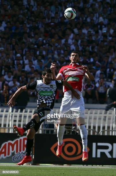 Bougueroua Adel of ESS struggle for the ball with Namani Mohamed of CRB during match Final Cup of Algeria 2017 CR belouizdad against ES setif at the...