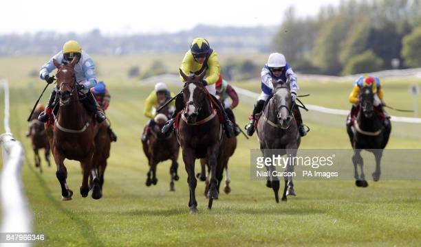 Bouillabaisse ridden by Colm Motherway wins the The Irish Field Bumper Flat Race during the Newbridge Community Race Day at The Curragh Racecourse...