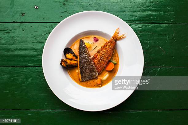 bouillabaisse soup - seafood stock pictures, royalty-free photos & images
