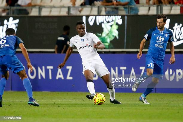 Boukari Abdoul Razak of Chateauroux and Sanusi Ryan of Grenoble during Ligue 2 match between Grenoble and Chateauroux on August 24 2018 in Grenoble...