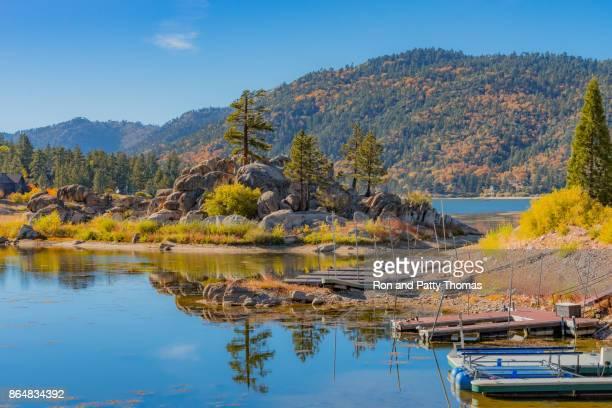 Boulder Bay of Big Bear Lake in Autumn (P)