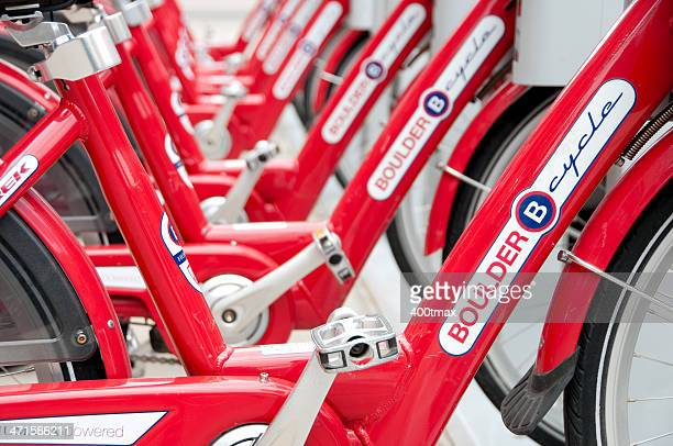 boulder b-cycle - boulder county stock pictures, royalty-free photos & images