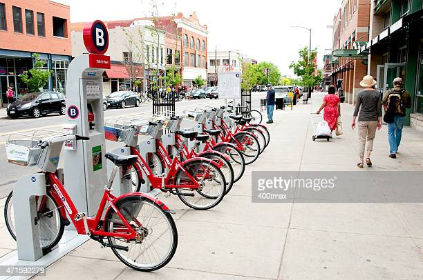 boulder b-cycle - boulder colorado stock photos and pictures