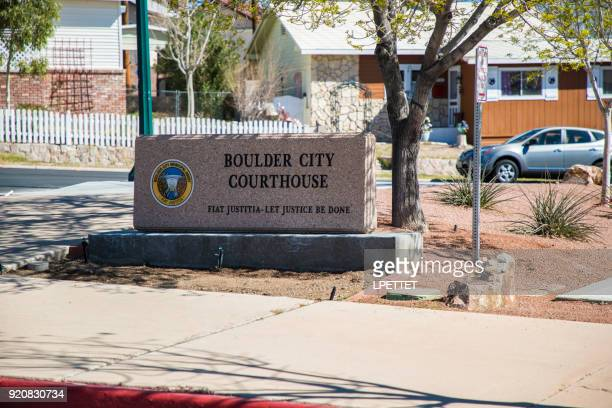 boulder city court house - boulder city stock photos and pictures