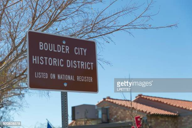 boulder city - boulder city stock photos and pictures