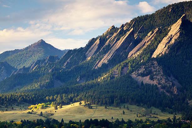 Boulder Colorado Flatirons in Fall