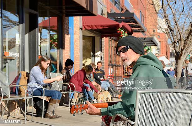 boulder, colorado street scene - boulder county stock pictures, royalty-free photos & images