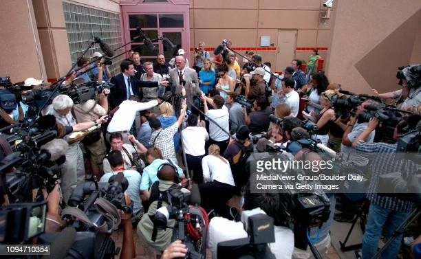 Boulder County Sheriff Joe Pelle speaks to media after John Mark Karr was transported to the Boulder County Jail Thursday August 25 2006 Karr is a...