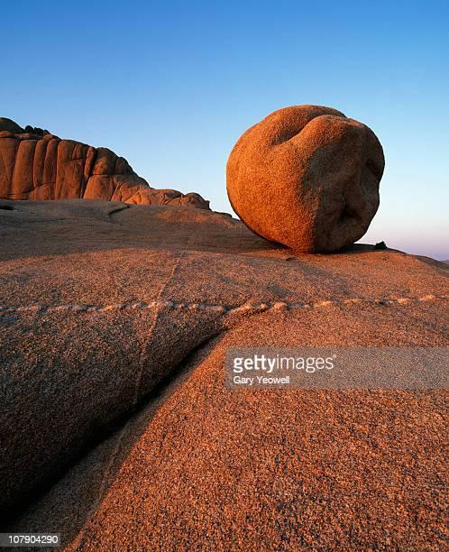 Boulder in rocky landscape