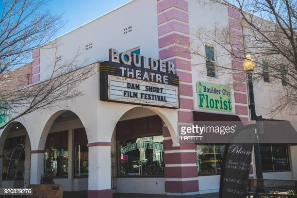 boulder theatre - boulder city stock photos and pictures