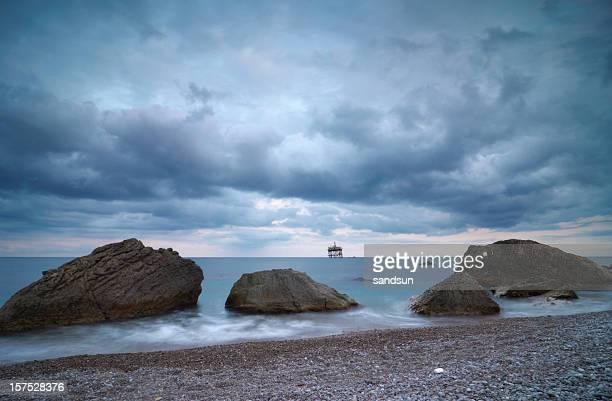boulders in sea
