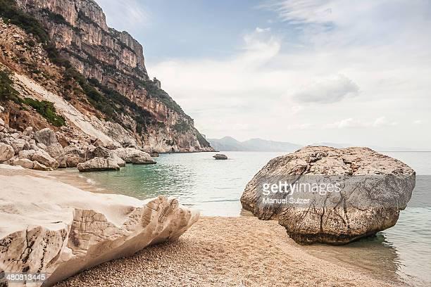 Boulders on beach, Cala Goloritze, Sardinia, Italy