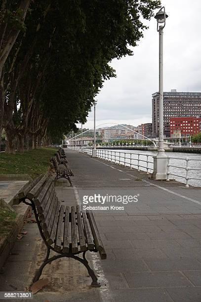 Boulevard along the Nervión River, Bilbao