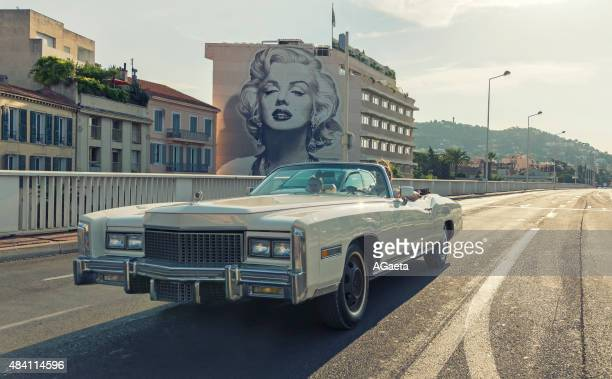 boulevard d'alsace, cannes, french riviera - cannes stockfoto's en -beelden