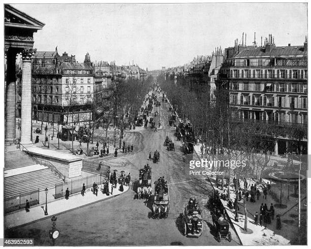 Boulevard de la Madeleine Paris late 19th century Photograph from Portfolio of Photographs of Famous Scenes Cities and Paintings by John L Stoddard...