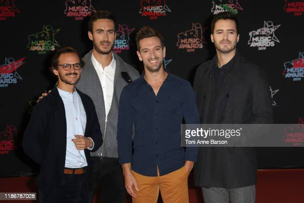 Boulevard des airs attends the 21st NRJ Music Awards At Palais des Festivals on November 09 2019 in Cannes France