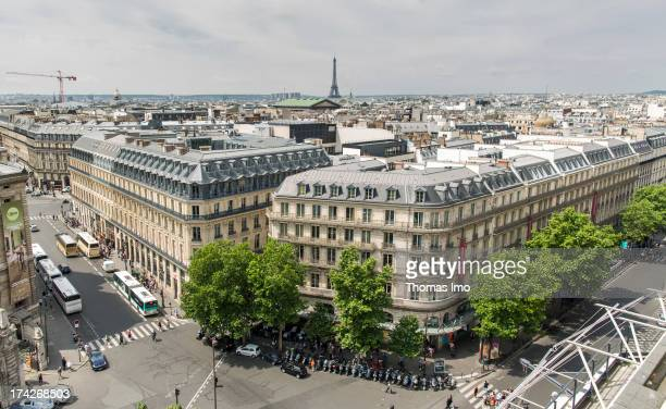 Boulevard Haussmann a view from Galeries Lafayette on July 02 2013 in Paris France