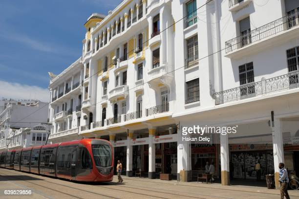 boulevard mohammed v, casablanca (dar el baida), grand casablanca, morocco - boulevard stock pictures, royalty-free photos & images