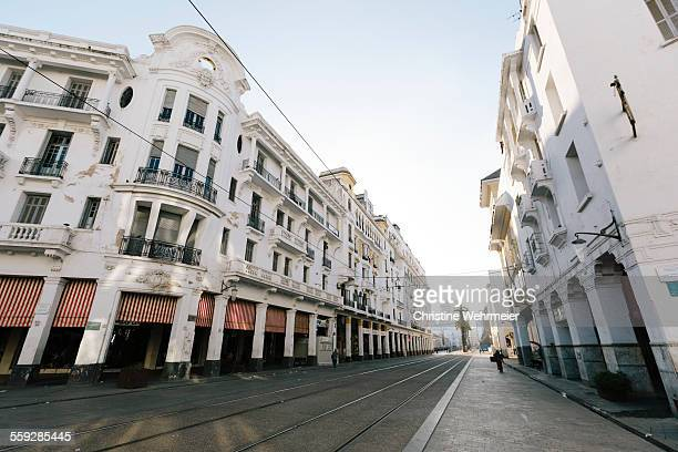 boulevard mohammed v, casablanca, morocco - boulevard stock pictures, royalty-free photos & images