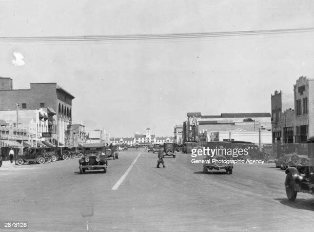 Boulevard of Los Angeles in Hollywood, California.