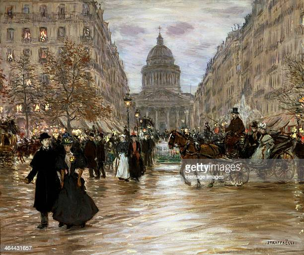 'Boulevard Saint-Michel', late 19th or early 20th century. Found in the collection of the State A Pushkin Museum of Fine Arts, Moscow.