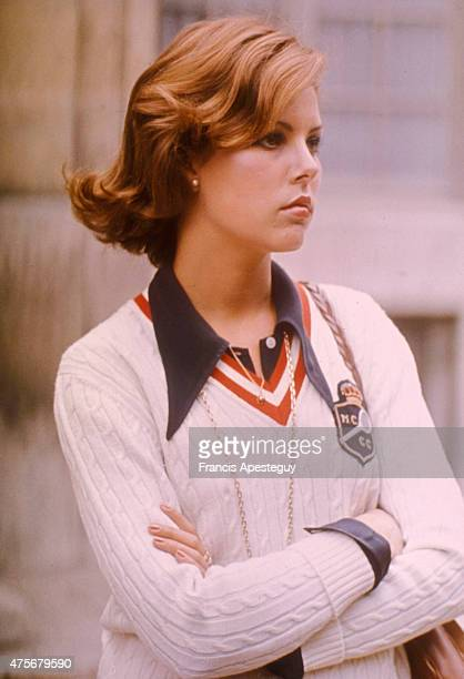 20/09/74 Boulogne France Princesse Caroline de Monaco au lycee prive a BoulognePrincess Caroline of Monaco during her high schools years in a private...