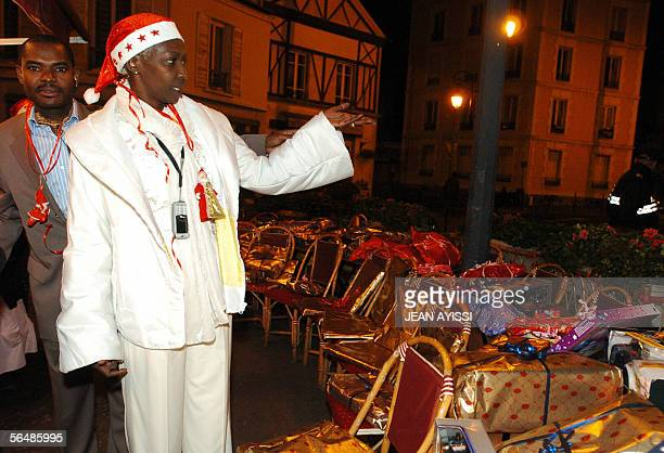 Burundian Princess Esther Kamatari presents gifts which will be offered to poor people in order to celebrate Christmas 24 December 2005 in...