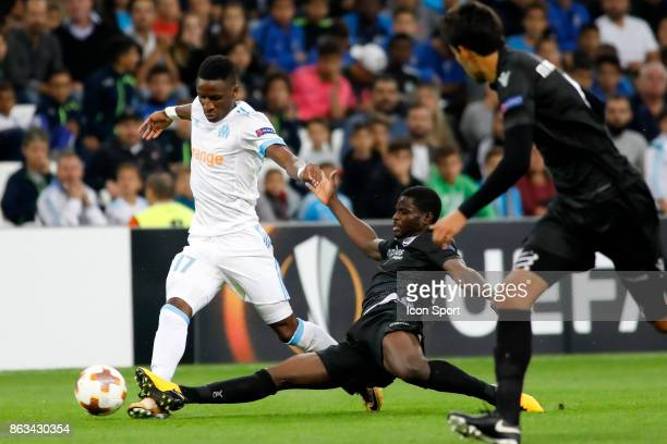 Bouna Sarr of Marseille during the Europa League match between Olympique de Marseille and Vitoria Guimaraes SCat Stade Velodrome on October 19 2017...